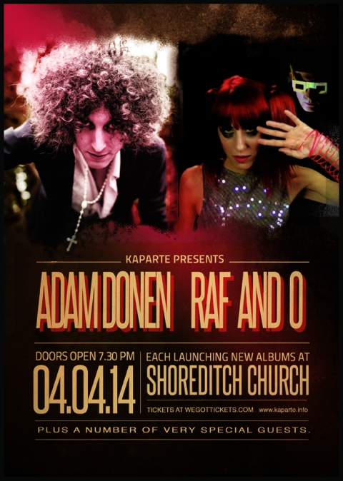 Raf and O + Adam Donen. Albums Launch at Shoreditch Church