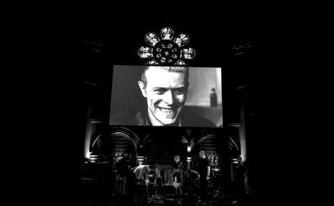 Raf and O Bowie Starman Celebration Union Chapel