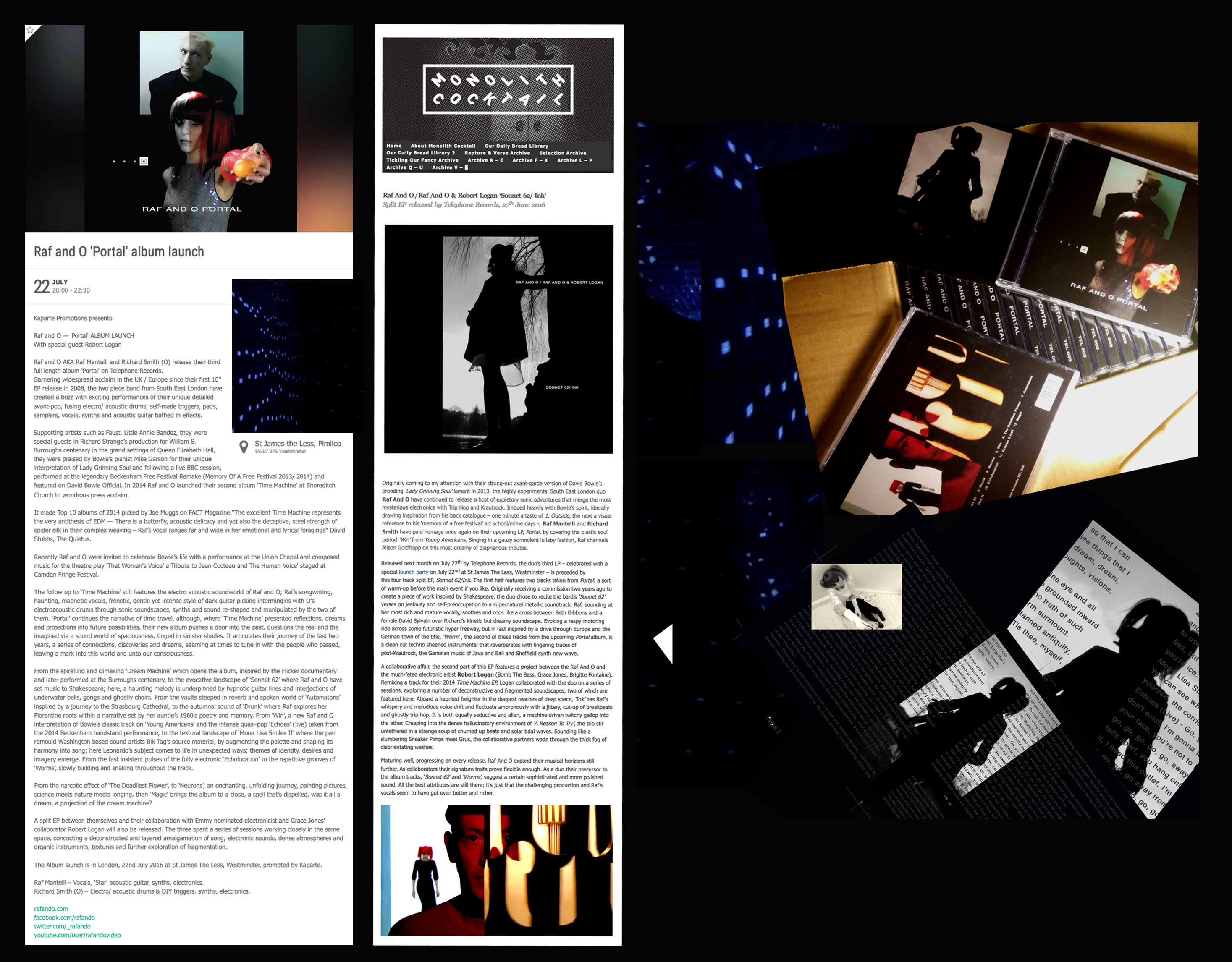 Raf and O Portal launch + Sonnet 62: Ink Review Monolith Cocktail